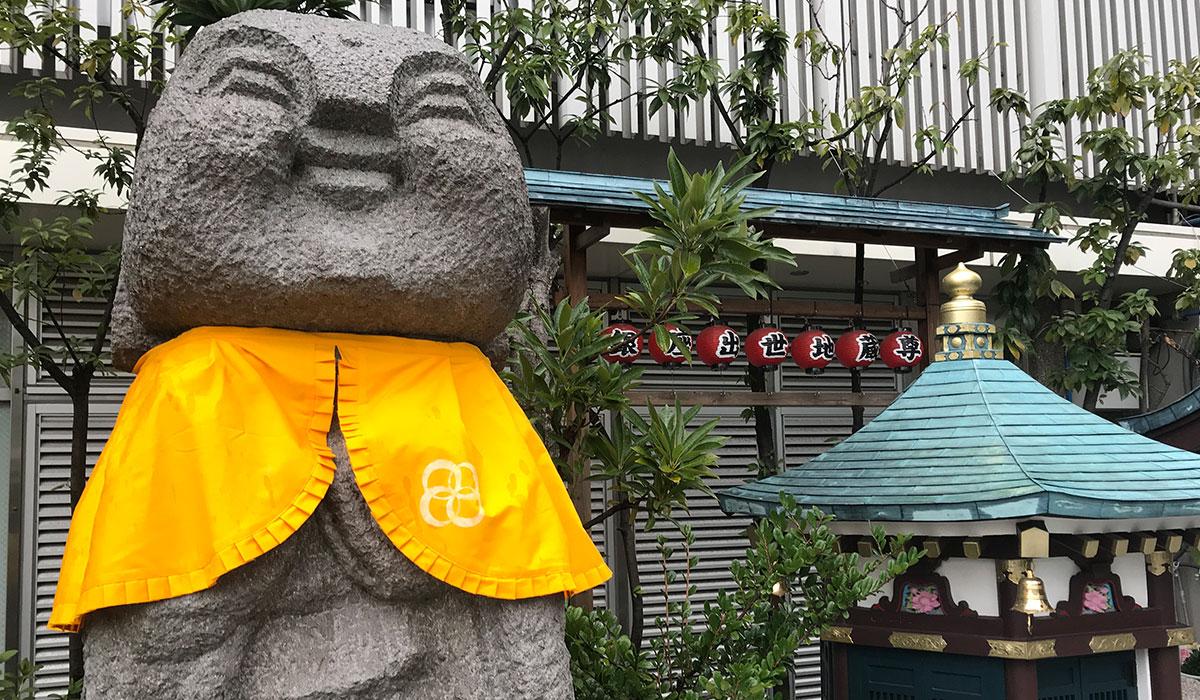 【銀座三越】出世地蔵尊が国際女性デーに向けHAPPY YELLOWに!