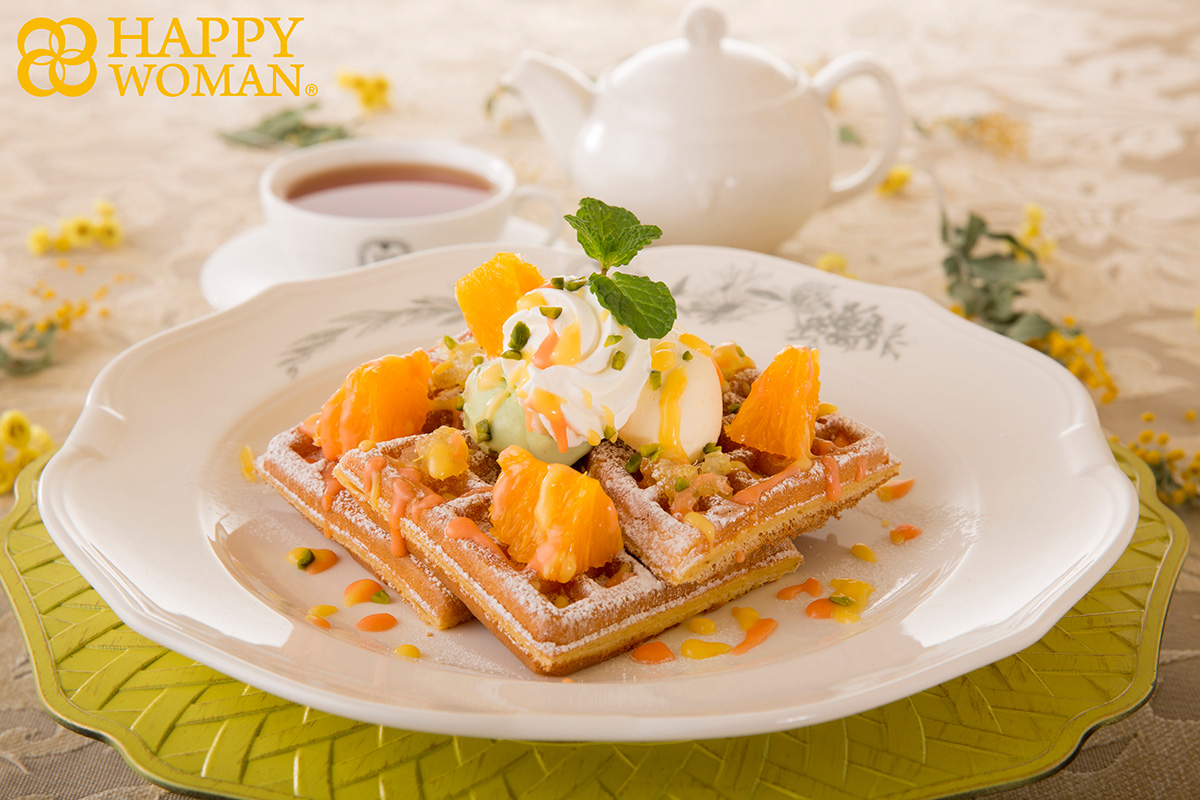 【マザーリーフ】国際女性デー「ピスタチオとチーズクリームのオレンジワッフル」新発売